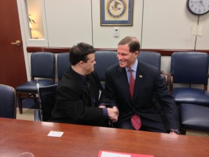 Zeb with the Honorable Senator Blumenthal from Connecticut